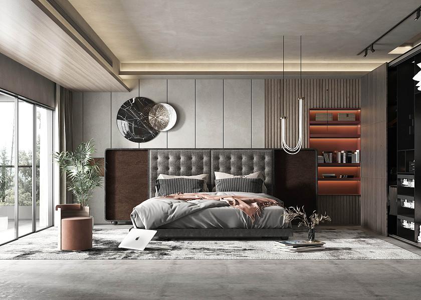 现代轻奢主卧室-1007383