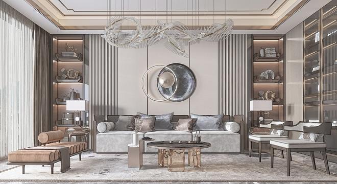 新中式轻奢客厅-1015456