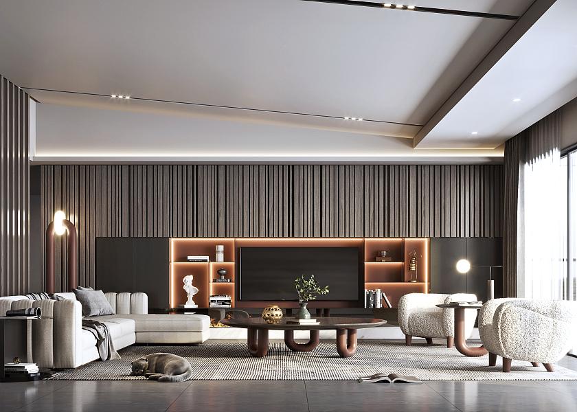 现代轻奢客厅-1016902